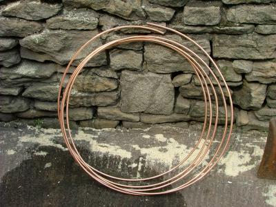 10 metres of 8mm diameter microbore heating pipe