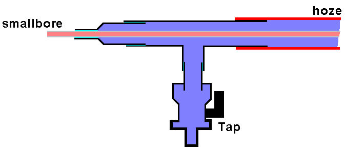 Schematic showing cross section of assembly