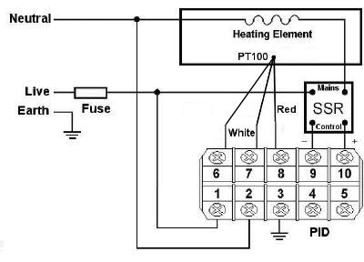 Schematic for using with a PT100 PRT sensor