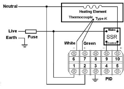Schematic for using with a Type-K thermocouple sensor